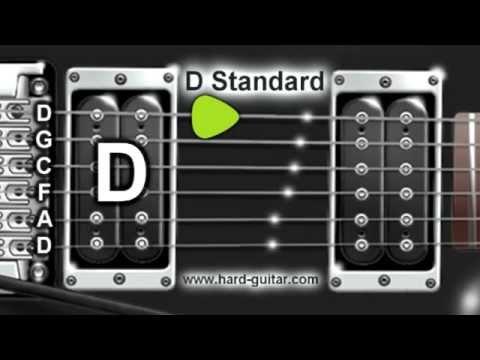 D Standard Guitar Tuner (D G C F A D Tuning)
