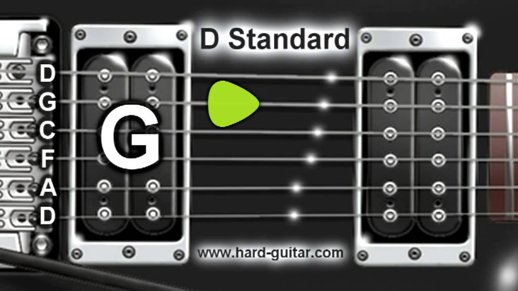 d standard guitar tuner d g c f a d tuning youtube. Black Bedroom Furniture Sets. Home Design Ideas