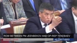 Өмүрбек Текебаев менен Сооронбай Жээнбеков Жогорку Кеңеште айтышып кетишти