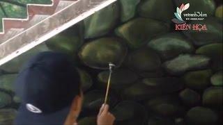 Vẽ Tranh 3D | Cách vẽ đá 3d tại chùa Tam Bửu, Quận 7