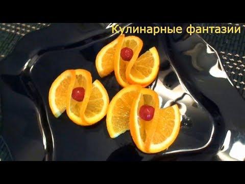Как красиво украсить торт апельсином
