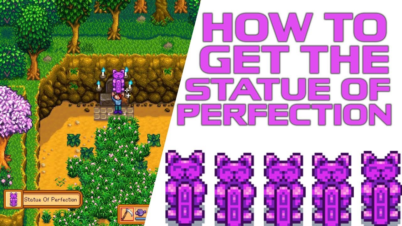 How To Get The Statue Of Perfection In Stardew Valley The Easiest