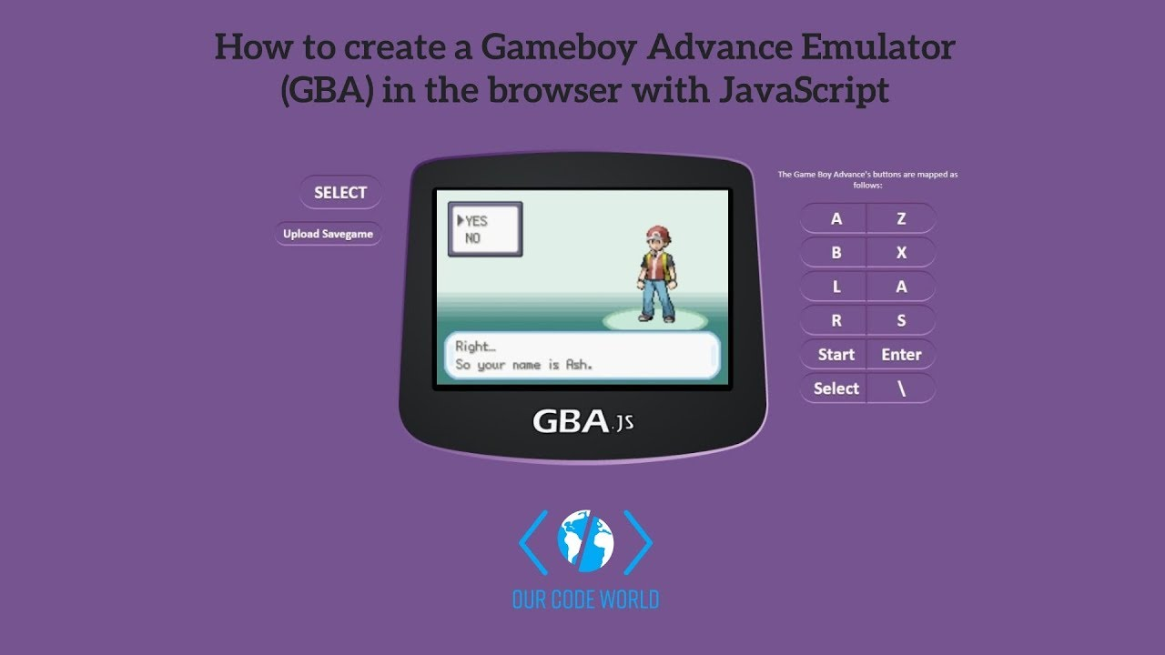 How to create a Gameboy Advance Emulator (GBA) in the