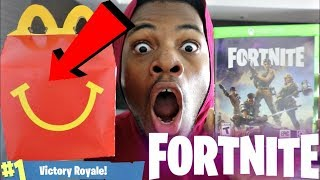 DO NOT ORDER THE FORTNITE HAPPY MEAL I GOT A FREE GAME OF FORTNITE IN MY IN FOOD OMG!!!!