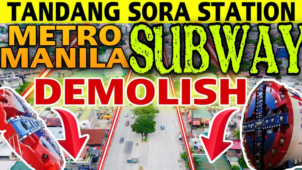 Download WASAK ANG GUSALI AT BAHAY DEMOLISH SA AREA NG METRO MANILA SUBWAY TANDANG SORA STATION DEMOLITION