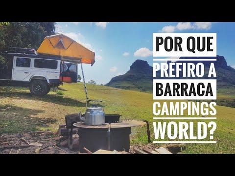 POR QUE ESCOLHI A CAMPING'S WORLD? UPGRADES QUE FIZ NA BARRACA DE TETO AUTOMOTIVA