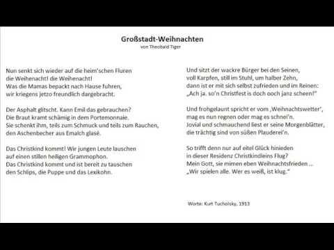 Groß-Stadt-Weihnachten (Worte: Kurt Tucholsky, 1913) - Christoph ...