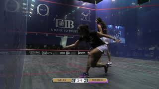 Breathe out ball/cross lob on the backhand side