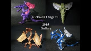 Rickman Origami Super Complex Box Pleated Origami Gallery (Not a tutorial)