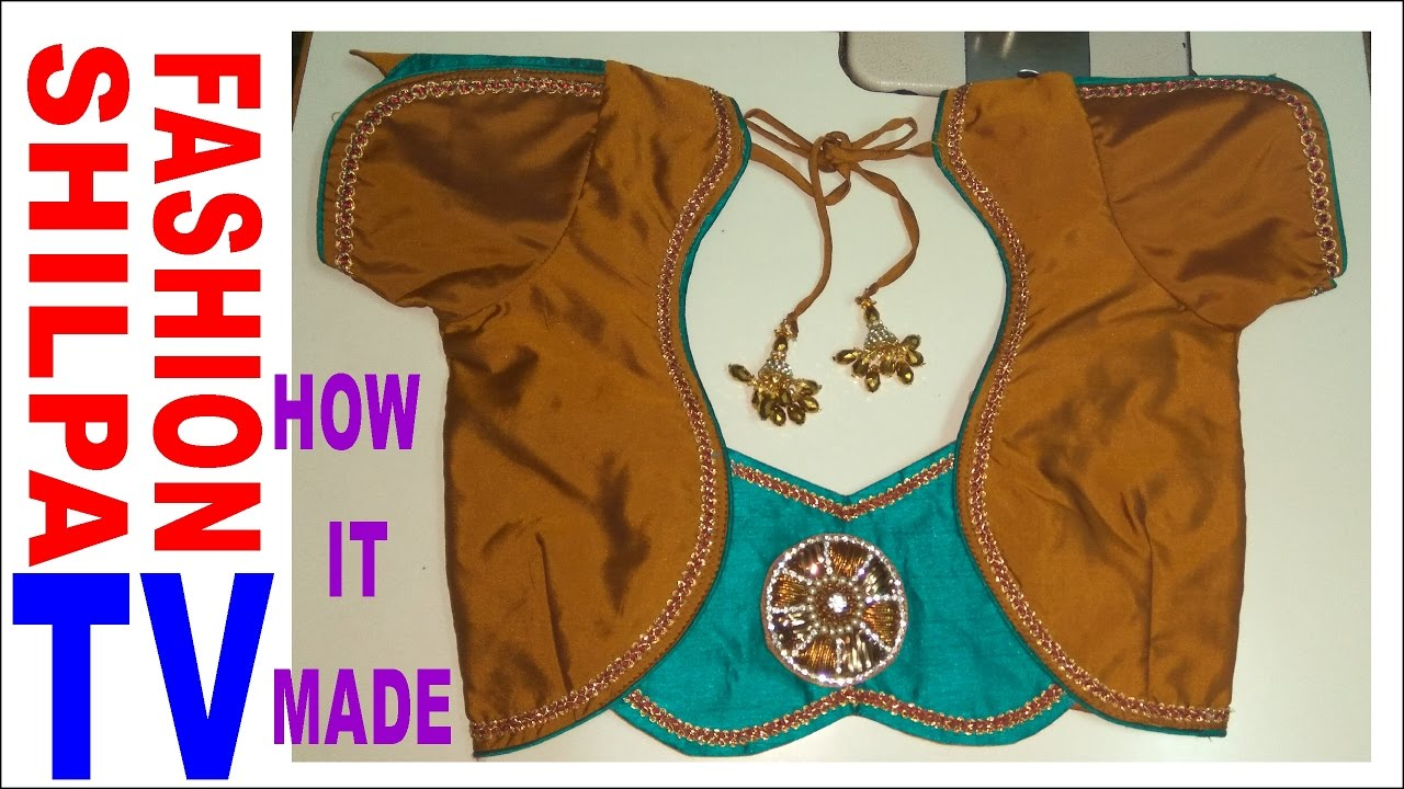 How To Make Designer Blouse At Home 19 How To Make Back Neck Piping By Shilpa Fashion Tv