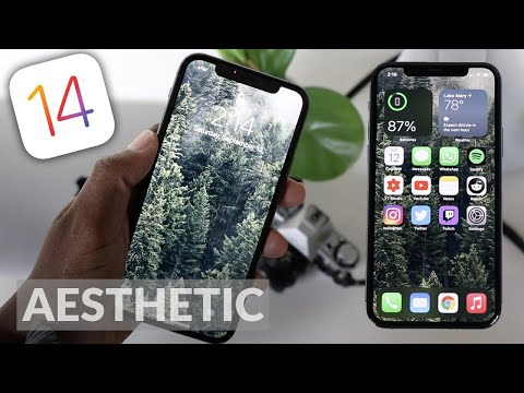 Making My Iphone Aesthetic My Ios 14 Setup How To Have An Aesthetic Iphone And Wallpaper Youtube