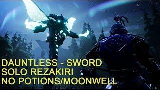 Dauntless - Sword Solo T5 Rezakiri No Potions