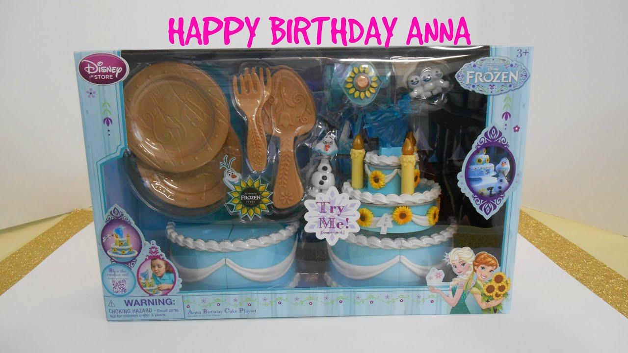Frozen Fever Happy Birthday Anna Cake Playset