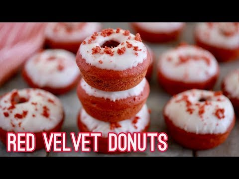Red Velvet Donuts (Baked Not Fried) Gemma's Bigger Bolder Baking Ep 195