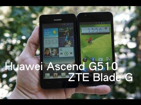 Huawei Ascend G510 vs. ZTE Blade G (Greek)