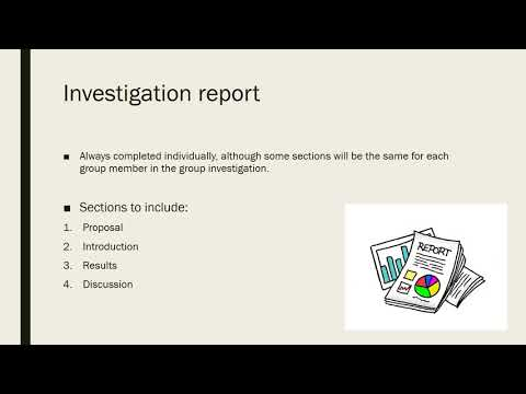 Investigation Report Structure