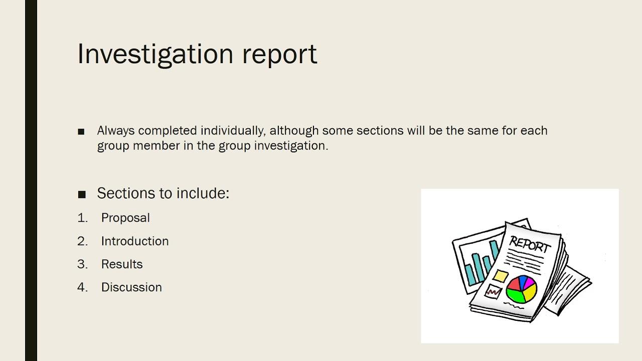 Investigation report structure