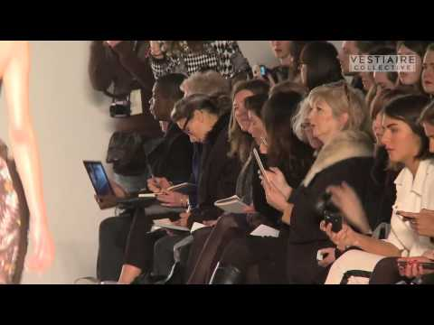 Zoe Jordan fashion show at London Fashion Week sponsored by Vestiaire Collective