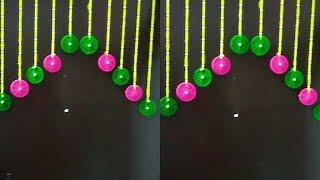 How To Make Door Toran Using Bangles/Door Hanging using Woolen Thread..