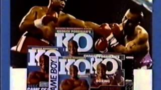 George Foreman K.O. Boxing (Sega Game Gear) - Retro Video Game Commercial / Ad