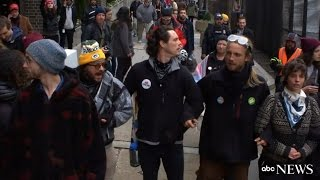 Trump Inauguration | Protesters Blocking Passage to Celebration