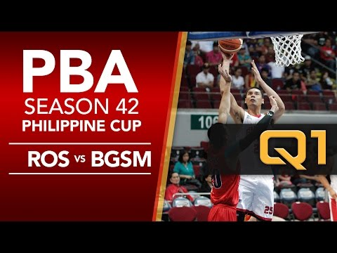 Rain or Shine vs. Ginebra - Q1 | PBA Philippine Cup 2016 - 2017