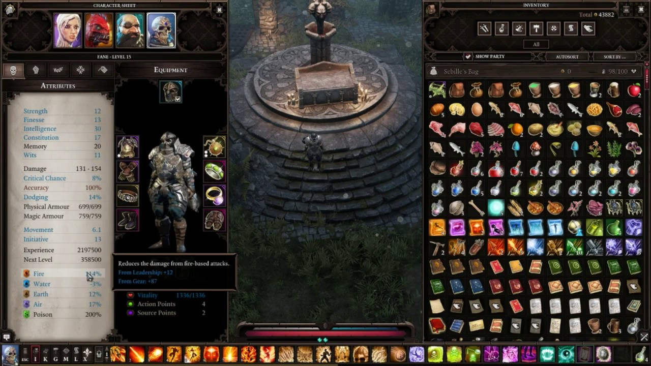 Divinity Original Sin 2 - Fane Geomancer & Pyromancer build with 100%+ fire  resistance