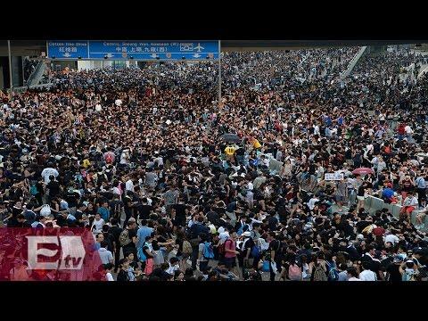 Enfrentamientos entre manifestantes en Hong Kong generan más disturbios / Excélsior en la Media
