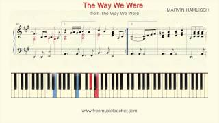"How To Play Piano: Barbra Streisand ""The Way We Were"" Piano Tutorial by Ramin Yousefi"