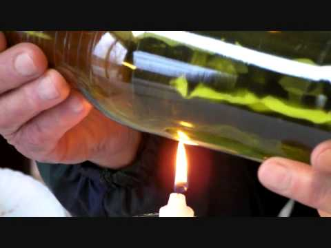How to cut a bottle using the original ephrem 39 s bottle for Alcohol bottles made into glasses