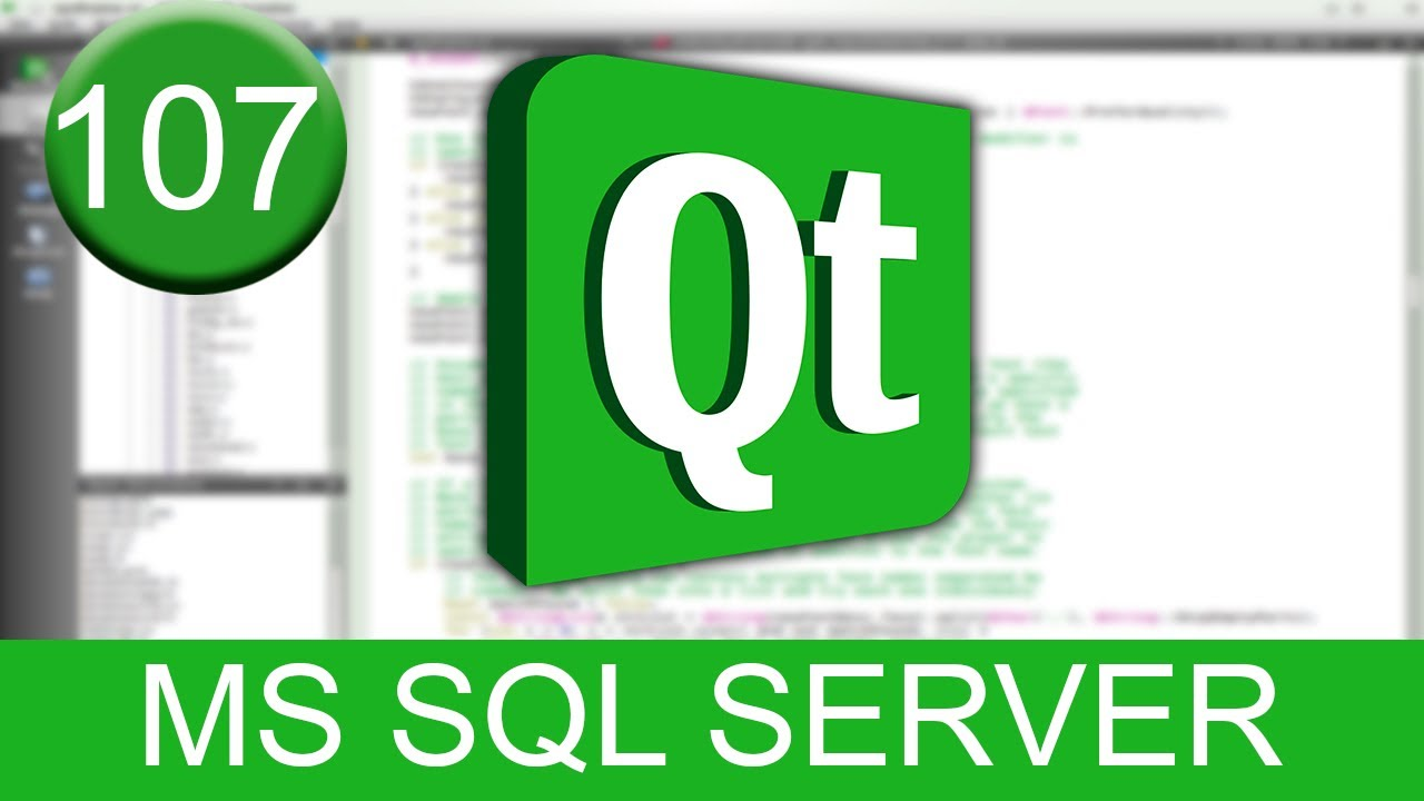 Tutorial Qt Creator - Microsoft SQL Server (SQL en C++)