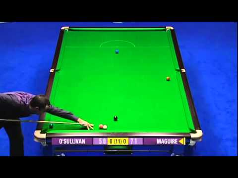 Unbelievable Snooker Escape by Stephen Maguire against Ronnie O'sullivan (Full Shots)