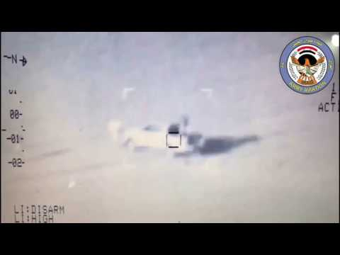 Iraqi Army Aviation destroy 10 ISIS fighters and 5 ISIS technicals in Tal Hajim near Tal Afar city