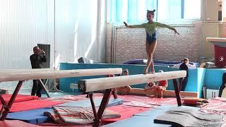Спортивная гимнастика, обязательная программа, Милана Верзилова 7 лет