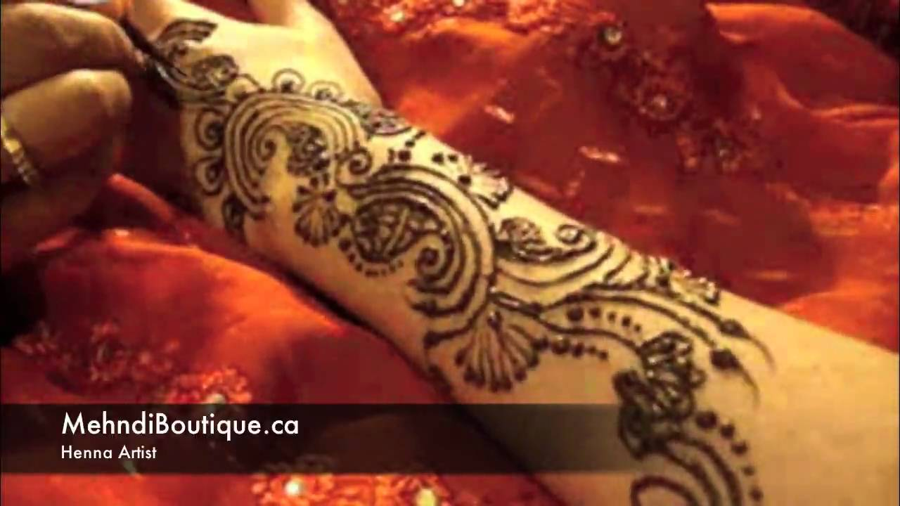 Henna Mehndi Montreal : Indian henna design by mehndi boutique youtube