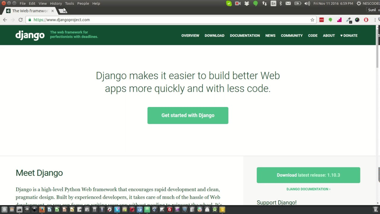 Django project folder structure - YouTube