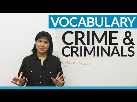 English Vocabulary: Crime & Criminals