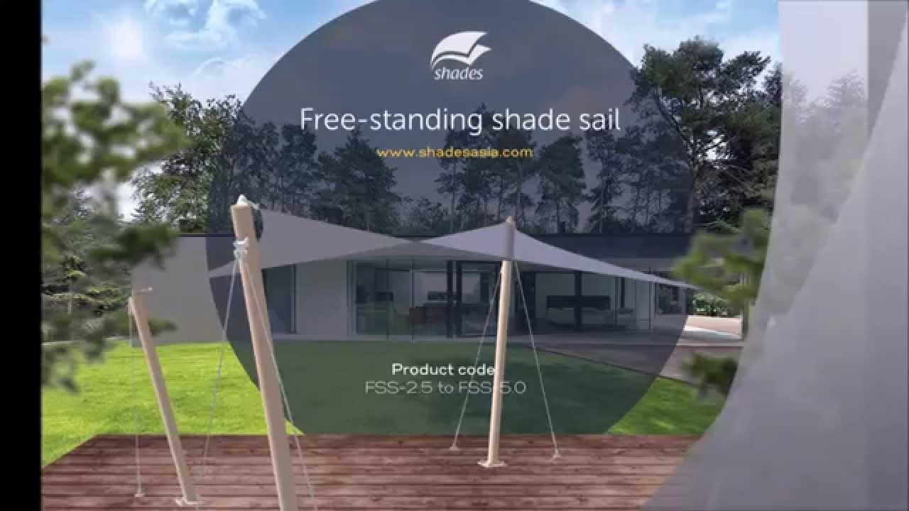 free standing shade sail v1 youtube
