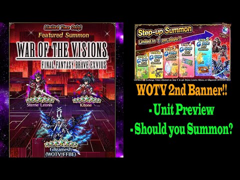 FFBE War Of The Vision Kitone And Sterne Banner Preview: Should You Summon? (#1077)