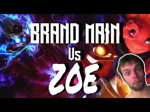 Brand Smashing a Zoe Mid - Road to diamond live commentary gameplay season 8