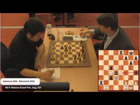 Hikaru Nakamura vs Alexander Morozevich FIDE GP Round 9 2013
