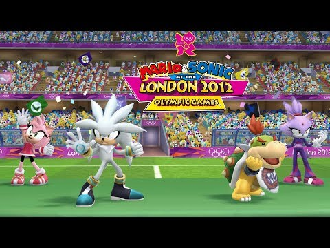 Mario & Sonic At London 2012 Olympic Games Football#16 Team Silver,Bowser Jr.,Amy,Blaze|JinnaGaming