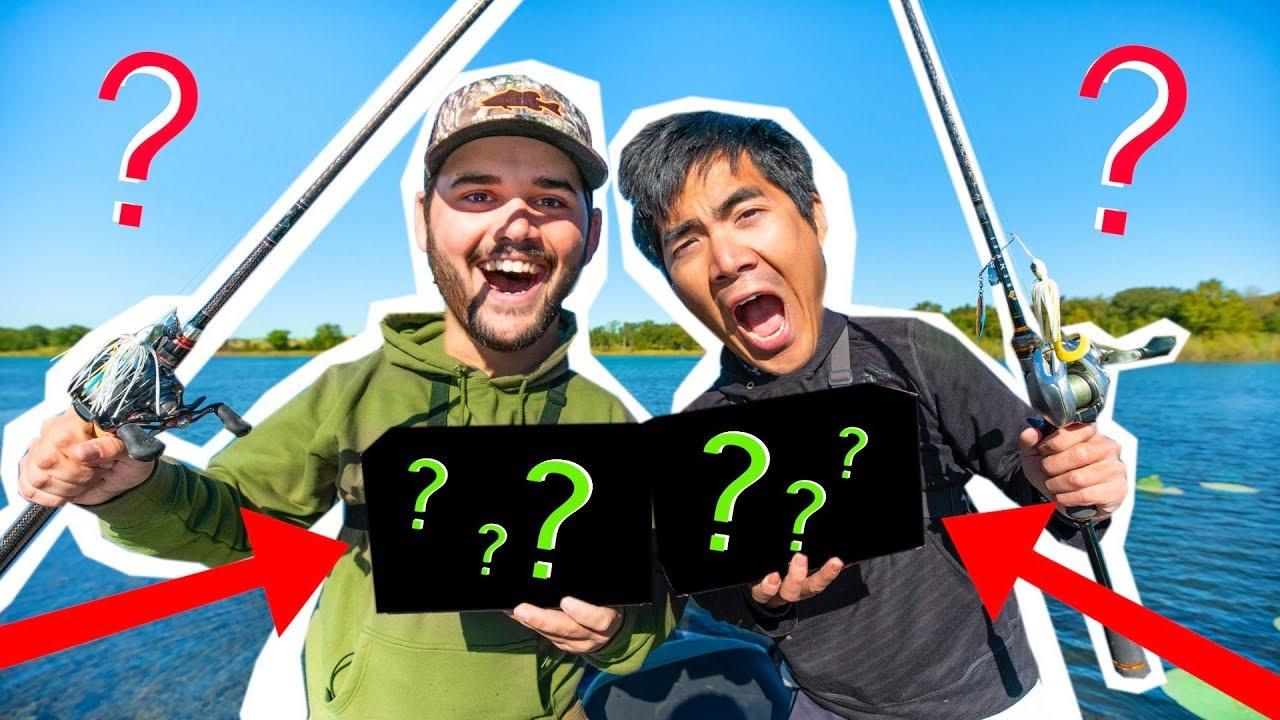 MYSTERIOUS BOX Fishing CHALLENGE!! ( Googan vs. Googan )