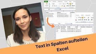 Excel: Text in mehrere Spalten aufteilen