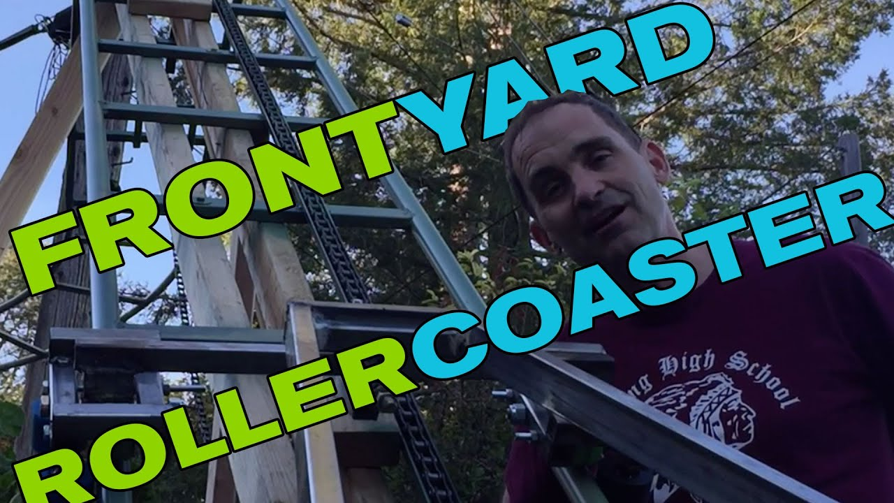 backyard roller coaster in the front yard update 2 youtube