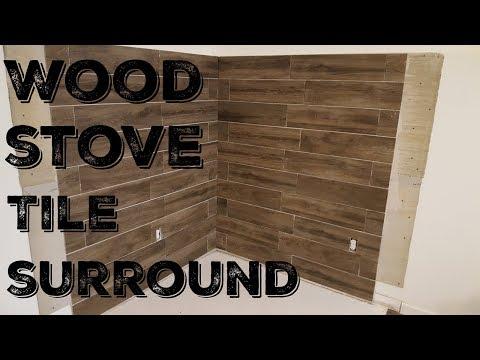 Wood Stove Installation - Tiling the corner surround