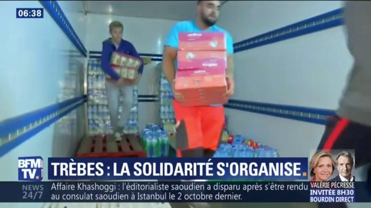 À Trèbes, la solidarité s'organise pour venir en aide aux sinistrés