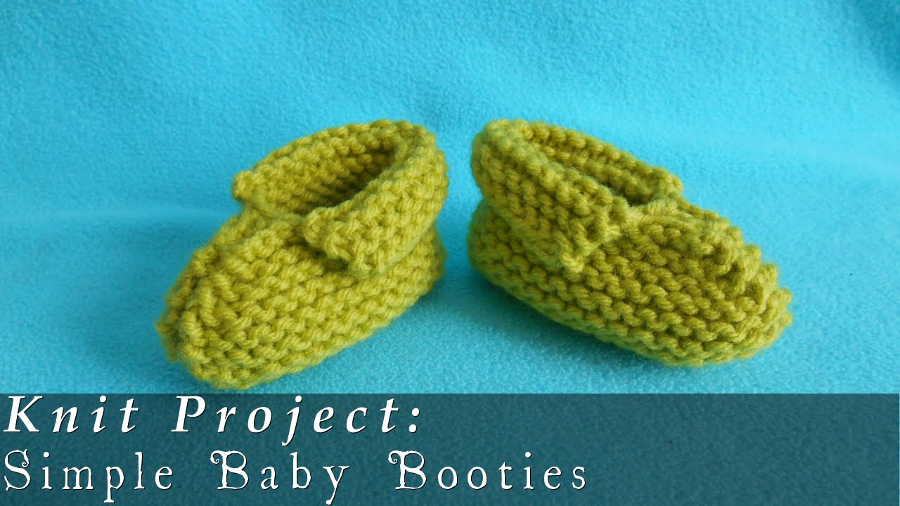 Simple Baby Booties 3-12 months { Knit } - YouTube