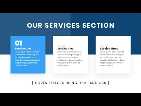 Our Services Section Design Using Html & CSS With Cool Hover Effects