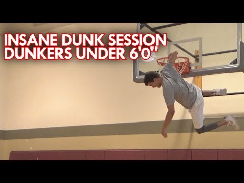 SICK DUNK SESSION! DUNKERS UNDER 6 FEET TALL!  Dylan, Peter and Nico Christie